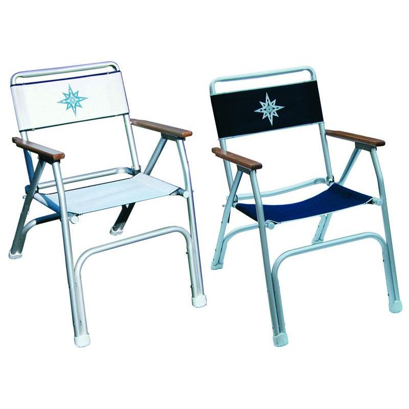 chaise pliante euromarine aluminium et bois. Black Bedroom Furniture Sets. Home Design Ideas