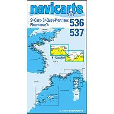 CHART OF NAVIGATION NAVICARTE ST CAST - PLOUMANEC'H