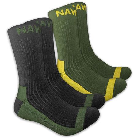 CHAUSSETTES HOMME NAVITAS COOLMAX CREW SOCK TWIN PACK