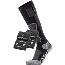 CHAUSSETTES HOMME THERM-IC POWERSOCKS HEAT UNI + BATTERIE S-PACK 1200 - NOIR