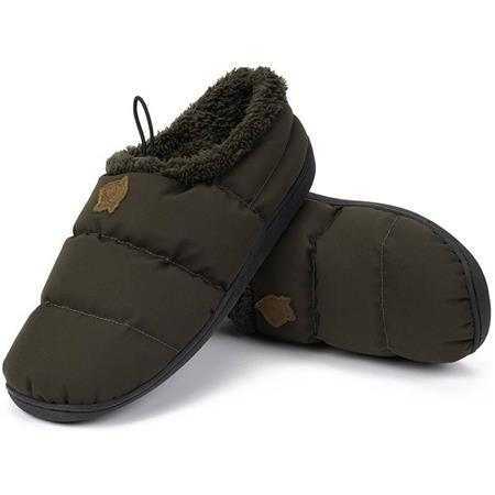 CHAUSSURES HOMME NASH DELUXE BIVVY SLIPPERS - MARRON