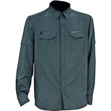 CHEMISE HOMME MANCHES LONGUES DAM EFFZETT AIRDRY PROTECTION UV - GRIS