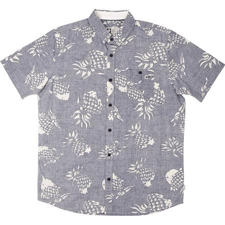 CHEMISE MANCHES COURTES HOMME SALTY CREW PINEFISH SS WOVEN - BLEU