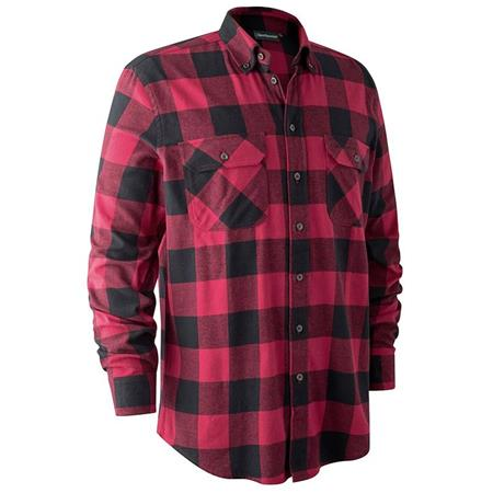 CHEMISE MANCHES LONGUES DEERHUNTER MARVIN II - ROUGE