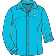 CHEMISE MANCHES LONGUES FEMME TURQUOISE TAILLE S