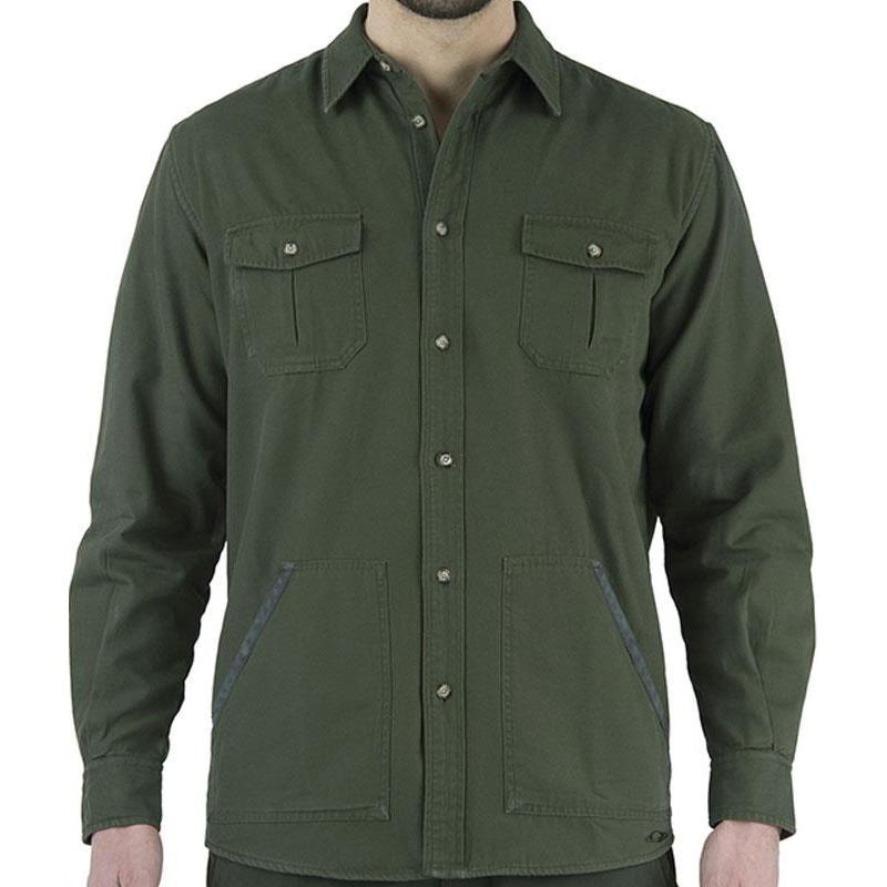 chemise manches longues homme beretta coton et flanelle vert. Black Bedroom Furniture Sets. Home Design Ideas