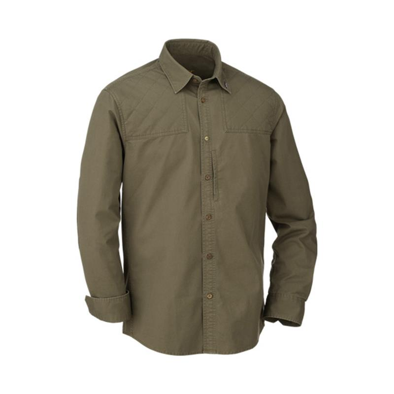 CHEMISE MANCHES LONGUES HOMME BLASER TWILL SHIRT MODERN FIT MEN - OLIVE - S