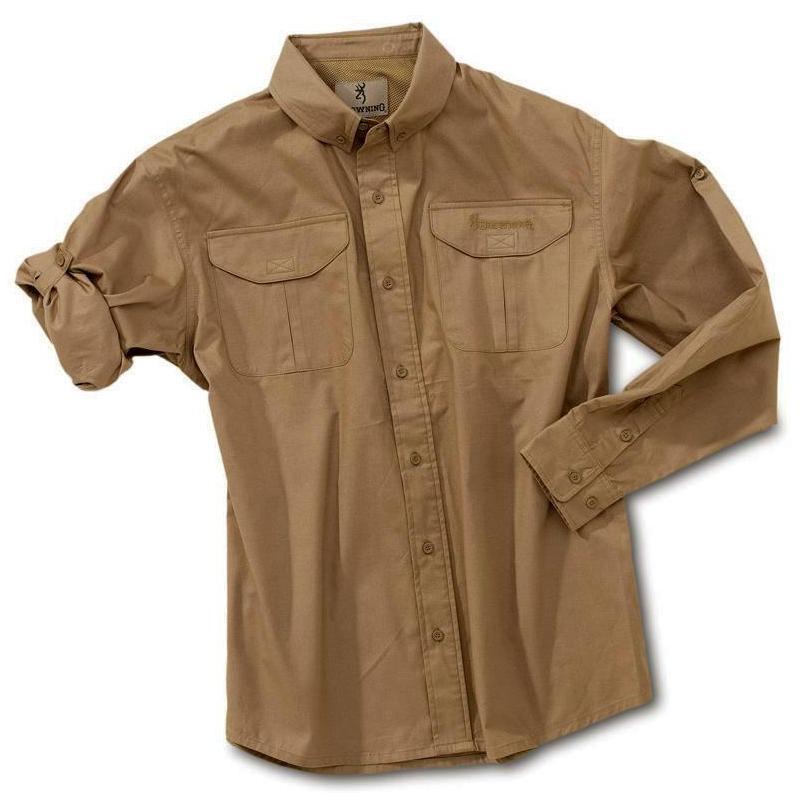 chemise manches longues homme browning savannah kaki. Black Bedroom Furniture Sets. Home Design Ideas