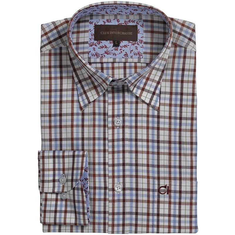 Bleurouge Homme Club Interchasse Noel Chemise Manches Longues 9H2IYWED