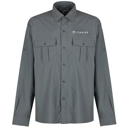 CHEMISE MANCHES LONGUES HOMME GREYS FISHING SHIRT - GRIS