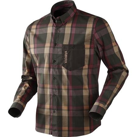 CHEMISE MANCHES LONGUES HOMME HARKILA AMLET - BURGUNDY BROWN