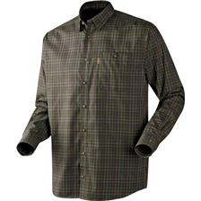 CHEMISE MANCHES LONGUES HOMME HARKILA MILFORD - OLIVE