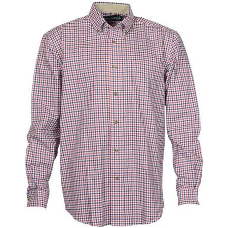 CHEMISE MANCHES LONGUES HOMME IDAHO BEAUGENCY - ROUGE