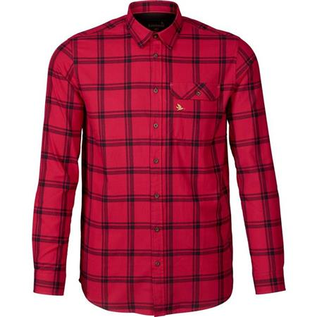 CHEMISE MANCHES LONGUES HOMME SEELAND HIGHSEAT - CARREAUX ROUGE