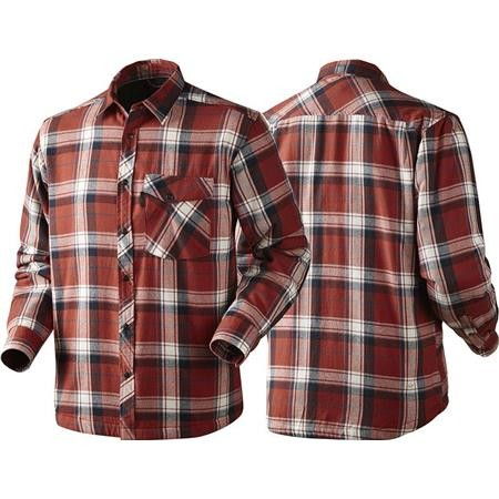 CHEMISE MANCHES LONGUES HOMME SEELAND MOSCUS - ROUGE