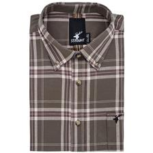 CHEMISE MANCHES LONGUES HOMME STAGUNT JAILLOT SHIRT FOREST NIGHT - VERT - L