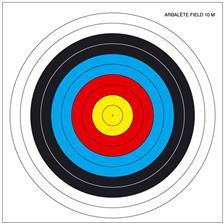 CIBLE ARBALETE FIELD EUROP ARM - PAR 100