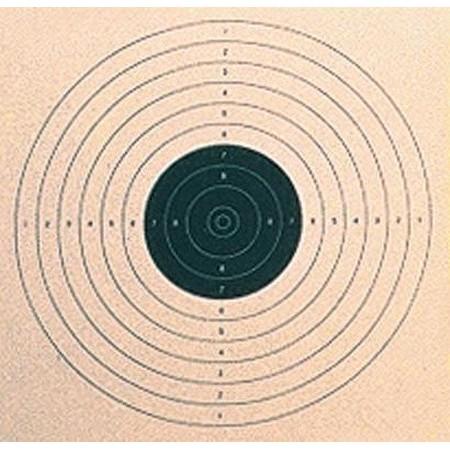 CIBLE NOIRE COLOMBI SPORTS TIR PISTOLET 17X17 - PAR 500