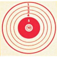 CIBLE ROUGE COLOMBI SPORTS TIR CARABINE 10 METRES 10X10 - PAR 500
