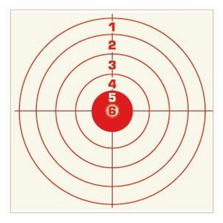 cible rouge colombi sports tir carabine 14x14 10 metres par 500. Black Bedroom Furniture Sets. Home Design Ideas