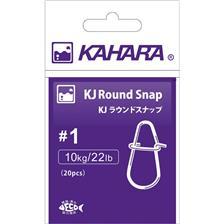 CLIP KAHARA ROUND SNAP - PACK DE 20