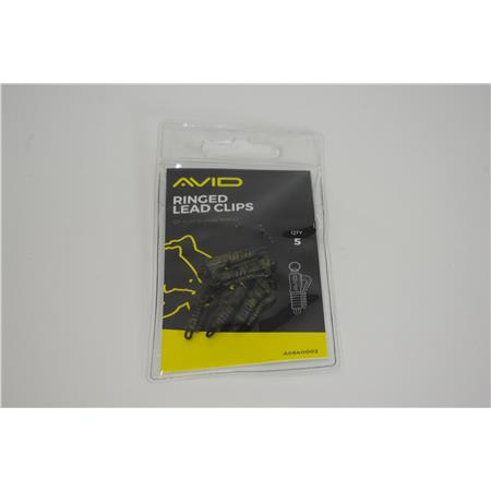 CLIP PLOMB AVID CARP RINGED LEAD CLIPS - A0640002 OCCASION