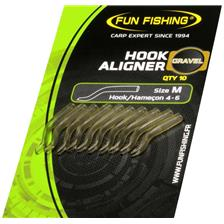 CONETOR BORRACHA FUN FISHING HOOK ALIGNER - PACK DE 10