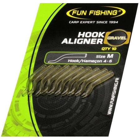 CONETOR BORRACHA FUN FISHING HOOK ALIGNER - PACK DE 10