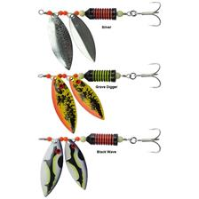 Lures Black Cat HITMAN TWIN SPINNER 100G SILVER