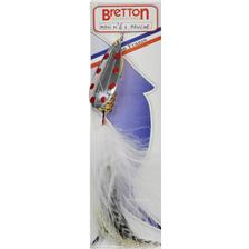 Lures Bretton MAXI MOUCHE ARGENT POINTS ROUGES 28G