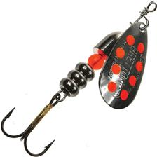 Lures Bretton CUILLER TOURNANTE NOIR POINTS ORANGE 1.6G - OR