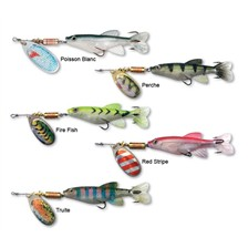 COLONEL Z MINNOW 3D CUILLER TOURNANTE CARNASSIER RED STRIPE 15CM
