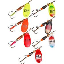 Lures D.A.M EFFZETT FLUO SPINNERS 4G FLUO ROUGE