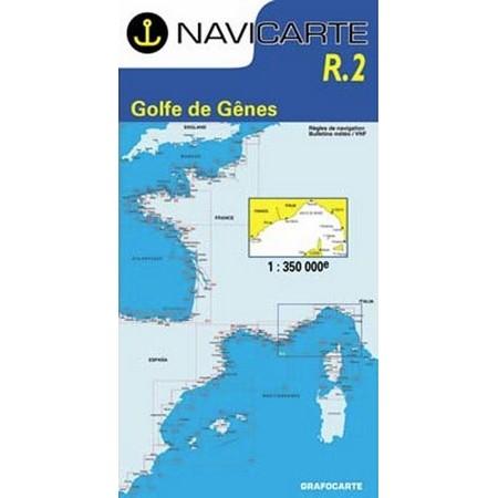DE NAVIGATIE WATERKAART NAVICARTE GOLFE DE GENES : HYERES A CALVI ET ILE D'ELBE