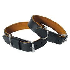 DOG COLLAR LEATHER MARTIN SELLIER BLACK ET TAN