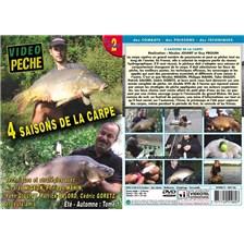 DVD - 4 SAISONS DE LA CARPE : TECHNIQUES ET STRATÉGIES  AVEC NICOLAS MIGEON, PHILIPPE MAHIN, YAHN GIULIOT - PÊCHE DE LA CARPE - VIDÉO PÊCHE