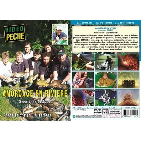 DVD - AMORÇAGE EN RIVIÈRE : COUP, BOLOGNAISE ET FEEDER AVEC JEAN DESQUE - PECHE AU COUP - VIDEO PECHE
