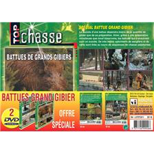 DVD - BATTUES GRAND GIBIER - TOP CHASSE - LOT DE 2