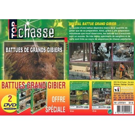DVD - BATTUES GRAND GIBIER - TOP CHASSE - LOT DE 2