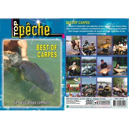 DVD - BEST-OF CARPES : LES PLUS BEAUX COMBATS  - PECHE DE LA CARPE - TOP PECHE