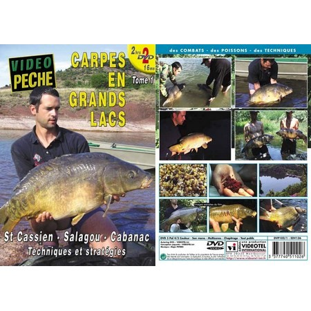 DVD - CARPES EN GRANDS LACS : ST CASSIEN - SALAGOU - CABANAC (2 DVD) AVEC NICOLAS MIGEON - PÊCHE DE LA CARPE - VIDÉO PÊCHE