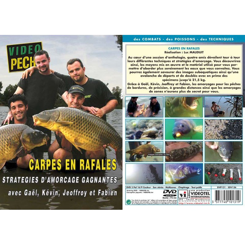 Dvd carpes en rafales strategies d 39 amor age gagnantes for Achat carpe