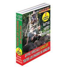 DVD - CHASSE SANGLIER N°2 : LES CHASSES DU SANGLIER : SPECIAL BATTUES & SPECIAL AFFÛT APPROCHE  - CHASSE DU GRAND GIBIER - VIDEO CHASSE - LOT DE 2