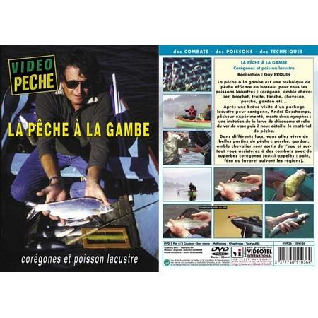 DVD - LA PECHE À LA GAMBE COREGONES ET POISSON LACUSTRE
