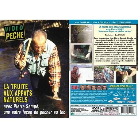 DVD - LA TRUITE AUX APPÂTS NATURELS AVEC PIERRE SEMPE - PECHE DE LA TRUITE - VIDEO PECHE