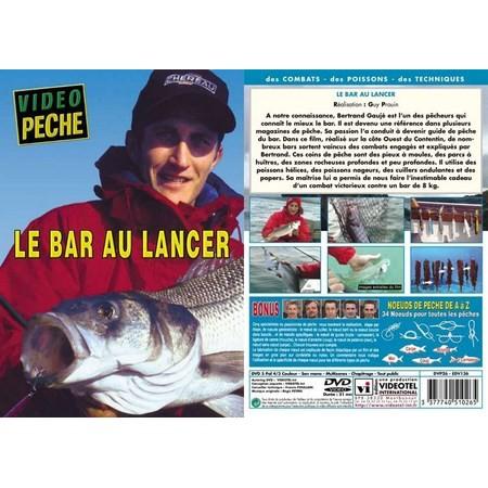 DVD - LE BAR AU LANCER AVEC BERTRAND GAUJE - PECHE EN MER - VIDEO PECHE