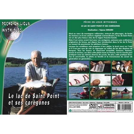 DVD - LE LAC DE SAINT POINT ET SES CORÉGONES  - PÊCHE DES CARNASSIERS - PÊCHE EN LIEUX MYTHIQUES