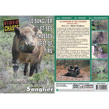 DVD - LE SANGLIER ET SES CHASSES : BEST-OF TIRS  - CHASSE DU GRAND GIBIER - VIDÉO CHASSE