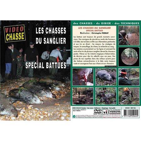 DVD - LES CHASSES DU SANGLIER : SPÉCIAL BATTUES  - CHASSE DU GRAND GIBIER - VIDÉO CHASSE