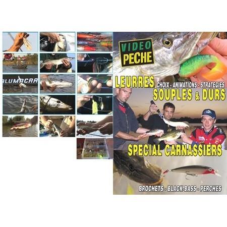 DVD - LEURRES SOUPLES & DURS SPECIALS CARNASSIER : BROCHETS - BLACK-BASS - PERCHES AVEC MATHIEU COURADEAU - PECHE DES CARNASSIERS - VIDEO PECHE